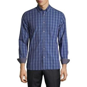 Ted Baker Newbro Modern Trim Fit Check Sport Shirt